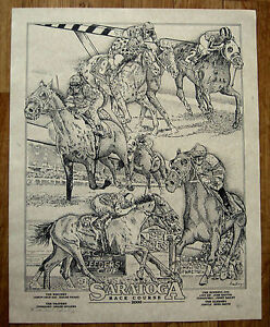 Collectable S/N 2000 Saratoga Racetrack Painting Print Travers Hopeful Dead Heat