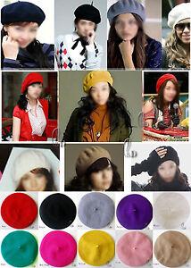 AU SELLER Unisex Wool French Beret Newsboy Hat Cap Tam in multiple colour hat004