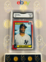 1990 Topps Deion Sanders #61 RC Yankees - 10 GEM MINT GMA Graded Baseball Card