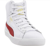 Men's Sneakers Puma Clyde Core Mid Foil 36580202 White-Barbados Cherry Size 9.5