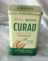 *Vintage CURAD BAND-AID BANDAGE Tin BAUER & BLACK Curity ** EMPTY**