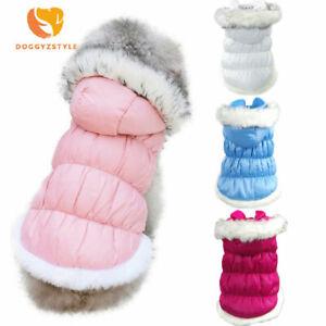 Cute Dog Hoodie Jacket Vest Winter Warm Puppy Cat Princess Down Coat Pet Clothes