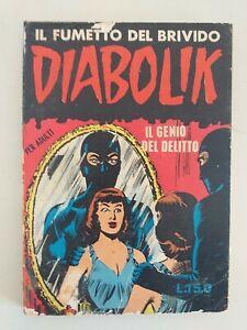 DIABOLIK prima serie ORIGINALE n.    5 - 1963