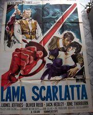 manifesto 4 sheets LAMA SCARLATTASCARLET BLADE SWORD sworcery og Italy 1963