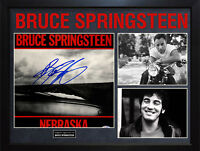 Bruce Springsteen Signed Nebraska Album Cover Display AFTAL UACC RD COA PSA