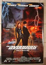 1998 THE AVENGERS ~ UMA THURMAN ~ RALPH FIENNES ~ SEAN CONNERY ~ MOVIE POSTER
