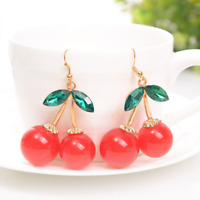 Lovely Cherry Drop Dangle Earrings Fashion Simple Earring Jewelry Accessories