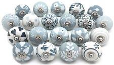 20 These Please Ceramic Door Knobs SECONDS Grey White Mix J93