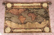 Exquisite Typvs Orbis Terrarvm Antique Wall Tapestry Art Map Made in Belgium