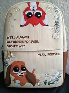 Loungefly Disney Fox and the Hound Friends Forever Mini Backpack Bag Tote NWT