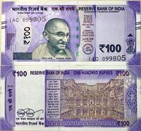 INDIA 100 RUPEES 2018 P NEW COLOR PURPLE DESIGN UNC