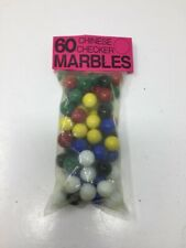 Bag of Chinese Checker Marbles 60 Solid Color Replacement Marbles, 10 each