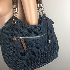 Saks Fifth Avenue Women Purse Handbag Blue Brown