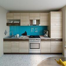 Küche ALINA mit Hochschrank 300 CM Küchenzeile Einbauküche Eiche Sonoma NEU