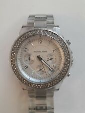 Clear and Silver Watch Michael Kors Mk5337 Glitz Chronograph