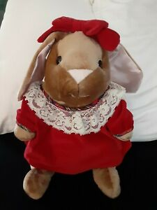 "VTG '85~Velveteen Rabbit~Plush 13"" Bunny~Rabbit Ears~Toys""R""Us Exclusive~Holiday"