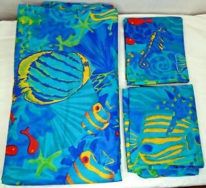 Tropical Fish Duvet Cover & 2 Pillow Cases Full/Queen Made in Fiji Poly Cotton