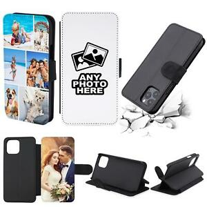 PERSONALISED CUSTOM PHOTO PICTURE FLIP WALLET PHONE CASE COVER CUSTOMISED IMAGE