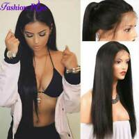 Wigs Glueless Full Lace Front Wig Natural Brazilian Virgin Straight Human Hair