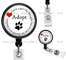 Pet Adoption Volunteer Clip On Id Badge Reel ID Holder Cat Dog Shelter Work