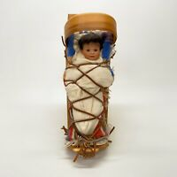 Wendy Lawtons Cherished Customs 1992 Cradleboard Navajo Figurine Box COA 545/750
