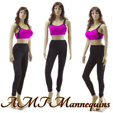 Female full body sexy mannequin+ base, Head rotate, dress form -Sp22+2Wigs