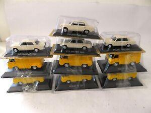 Lot de 10 Voitures Miniatures Rocar Dacia Zastava Volga Lada Diecast 1/43 BAC7