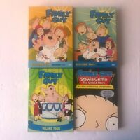 FAMILY GUY Lot Volumes 1,2, 4, & Stewie Griffen Untold story DVD Box Sets EUC