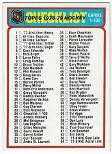 1978-79 TOPPS HOCKEY #24 CHECKLIST 1-132 - NEAR MINT