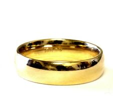 10k yellow gold 6mm mens comfort fit wedding band ring 6.5g estate gents