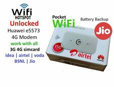 UNLOCKED AIRTEL HUAWEI e5573 LTE 150 Mbps 3G 4G WIFI WIRELESS POCKET ROUTER