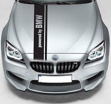 POWERED BY BMW double Rally Capuche Rayure Voiture Vinyle Autocollant JDM Autocollant Graphique