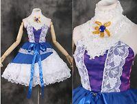 m-3314 S / M/L/XL/XXL Lolita Gótica Rococó Púrpura Azul Cosplay Vestido Traje