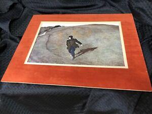 Andrew Wyeth Original Print Winter 1946 Kuerner's Hill Pennsylvania Matted