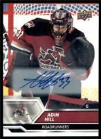 2019-20 UD AHL Auto Parallel #35 Adin Hill - Tucson Roadrunners