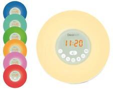 Sunrise Alarm Clock Radio with 7 Colour Lamp - DECOTECH