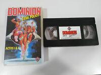 DOMINION TANK POLICE ACTOS 1 & 2 - VHS TAPE CINTA COLECCIONISTA ANIME MANGA