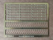 ETCHED PULLMAN STYLE COACH INTERIOR OVERHEAD LUGGAGE RACKS HO SCALE KV MODELS