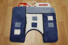 Badteppich Badematte Meusch Grafiko 769 Marineblau 55x50 Stand-WC