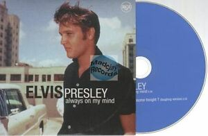 Elvis Presley Always On My Mind CD SINGLE france french only card sleeve