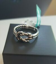 NEW MEN'S KNOTTED STERLING SILVER RING SIZE 10