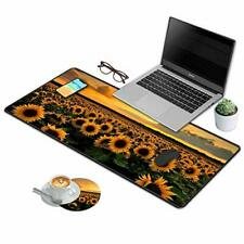New listing Desk Pad Mat Gaming Mouse Pads with Coasters Set Stitched Edges Design Mouse .