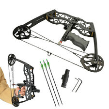 """16"""" Mini Compound Bow Set 35lbs Archery Arrow Bowfishing Hunting Right Left Hand"""