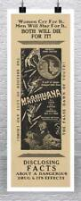 Marijuana Disclosing Facts Vintage Movie Poster Canvas Giclee Print 17x41 in.