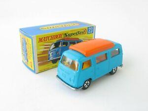 Matchbox Superfast 23 VW Volkswagen Transporter Camper Van Crisp G Box