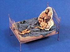 "Verlinden 54mm (1/35) ""What Did You Do in the War, Daddy?"" Man in Bed w/Girl 266"
