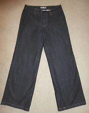 CHICOS Size 1 Platinum Denim Wide Leg Colin MR Jean Stretch Dark Blue