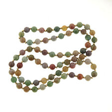 """Bloodstone Bead Necklace Strand 8 mm 30"""""""