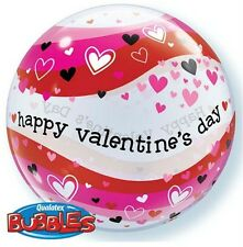 Party Supplies Love Valentines Day Hearts Bubble Balloon 56cm