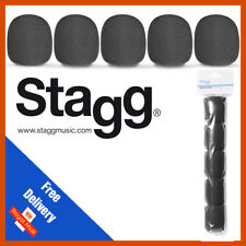 Stagg Microphone Windshields Black Pack of FIVE | 5 Pack | WS−S35/B5